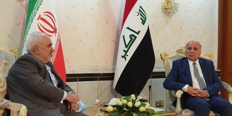 ظریف با فؤاد حسین همتای عراقی دیدار کرد