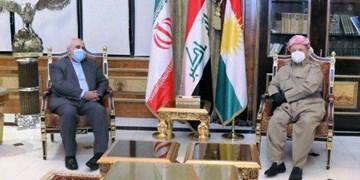 مسعود بارزانی: اقلیم کردستان هرگز به محلی برای تهدید منافع و امنیت ایران تبدیل نخواهد شد