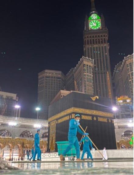 13990430000378 Test NewPhotoFree - ضدعفونی مداوم مسجدالحرام در آستانه حج تمتع+ فیلم