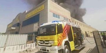 آتشسوزی در منطقه صنعتی «جبل علی» امارات