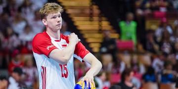 مدافع تیم ملی والیبال لهستان بازی با آلمان را از دست داد