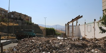 یک باب منزل مسکونی در سنندج تملک و تخریب شد