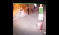 فیلم| آتشسوزی سمند در پمپ بنزین «مورموری»