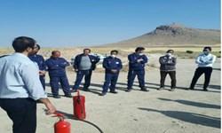آموزش همگانی اطفای حریق توسط آتشنشانی قروه