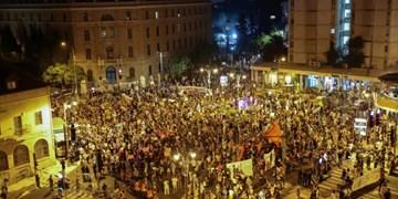 بازداشت ۵۵ نفر در جریان حمله پلیس به معترضان ضد نتانیاهو + فیلم و عکس
