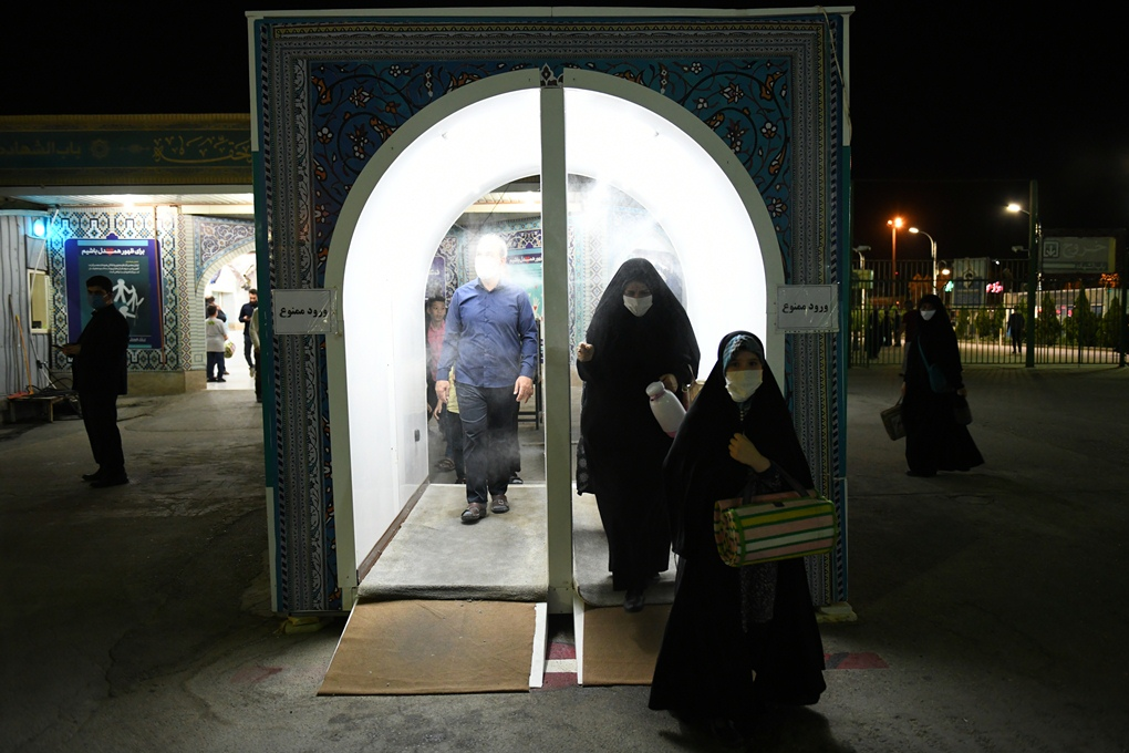 13990504000152 Test NewPhotoFree - تونل ضدعفونی در باب الشهدا مسجد جمکران برپا شد