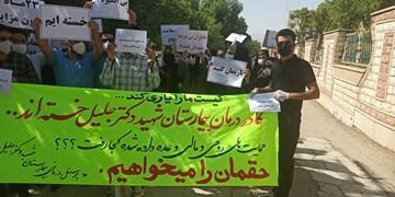 اعتراض سربازان مقابله با کرونا در بیمارستان جلیل/اینجا دیگر جای اهمال مسوولان نیست+تصویر و فیلم