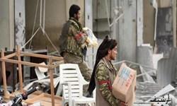 غارت اموال مردم در روستاهای حلب توسط تروریستهای تحت حمایت ترکیه