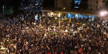 تداوم تظاهرات مقابل محل  اقامت «نتانیاهو»