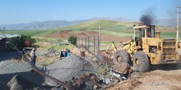 رفع تصرف بیش از 10 هزار متر مربع از اراضی ملی در کامیاران