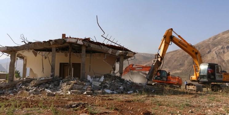 دستگاه قضا به وعده خود عمل کرد/ تخریب 9 ویلای باقیمانده غیرمجاز در بیرگان کوهرنگ