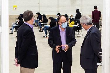حضور دکتر ابراهیم خدایی رئیس سازمان سنجش آموزش کشوردر آزمون دکتری سال 99 / دانشگاه شریف
