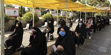 قرائت دعای عرفه در بهشت زهرای تهران