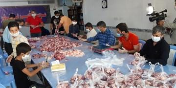 توزیع گوشت قربانی بین ۲۷۰۰ خانواده نیازمند  ورامینی
