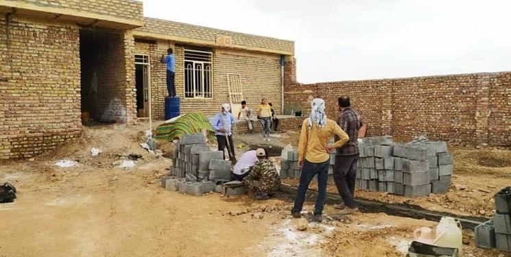 تکمیل منزل عروس و داماد توسط گروه اردوی جهادی  خادمیاران رضوی در کاشمر
