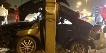 برخورد مرگبار «سراتو» با تیر چراغ برق در جاده ورامین