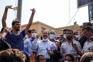 سید نظام موسوی نماینده مردم تهران در تجمع کارگران شرکت نیشکر هفت تپه