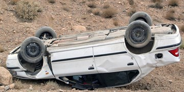 واژگونی پژو پارس با 3 فوتی در «قشم»