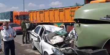 تصادف زنجیرهای در محور یاسوج_اصفهان/حال یک نفر وخیم است