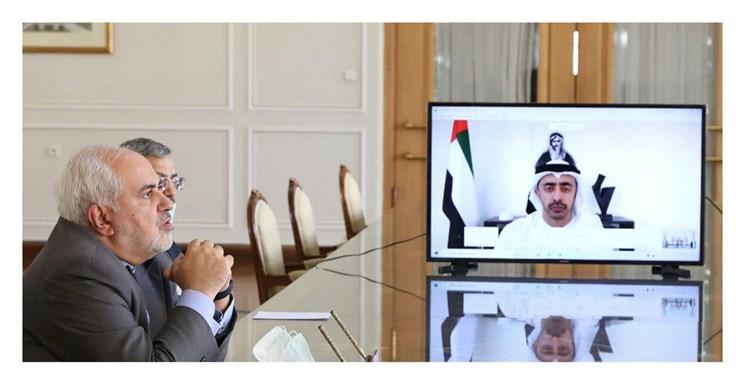 ظریف: با وزیر خارجه امارات توافق کردیم به گفتوگو بر مبنای ابتکار صلح هرمز ادامه دهیم