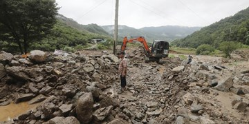 بارانهای سیل آسا در کره جنوبی؛ مدفون شدن چند تن در گل و لای