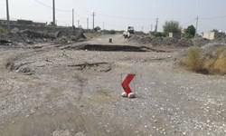 خسارت سیلاب به محورهای روستایی قلعهگنج