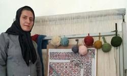 تلفیق فرش و گلیم با ابتکار بانوی کرمانشاهی/ برای اولین بار در جهان، شیوه «بافت دو رو» ثبت شد
