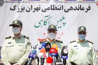سردار رحیمی رئیس پلیس پایتخت در میان خبرنگاران
