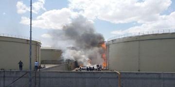 فیلم  تلاش برای مهار آتش در نیروگاه سمنان