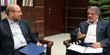 دیدار محسن هاشمی با قالیباف/ لزوم اصلاح قانون انتخابات شوراهای شهر