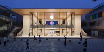 فروشگاه جدید اپل در پکن با انرژی خورشیدی روشن می شود