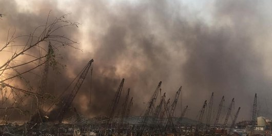 انفجار مهیب در بندر بیروت لبنان با  100 کشته و 5000 زخمی + فیلم