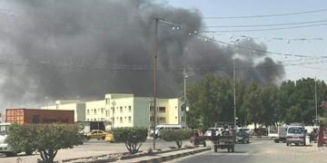 وقوع آتشسوزی  در انبار مواد غذایی نجف اشرف+ تصاویر