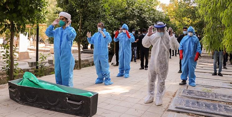 غسل و تدفین اموات کرونایی در دارالرحمه شیراز