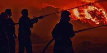 عکس و فیلم | آتشسوزی گسترده در یک بازار خوراک دام در عربستان سعودی