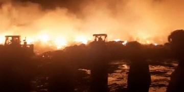 خسارت ۱۶میلیارد تومانی در آتشسوزی دامداری فشافویه