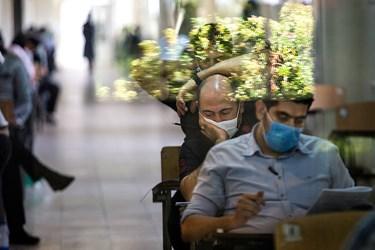 رعایت دستور العمل های بهداشتی توسط داوطلبان آزمون کارشناسی ارشد