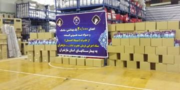 اهدای 2000 بسته بهداشتی توسط ستاد فرمان امام به کادر درمانی مازندران