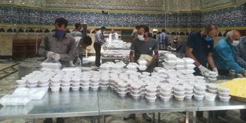 توزیع 23000 پرس غذا با شعار «به عشق علی»