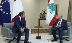 رئیس جمهور فرانسه با همتای لبنانی خود در بیروت دیدار کرد