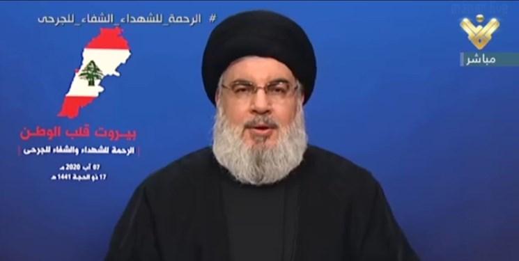 نصرالله: انفجار بیروت ربطی به حزبالله ندارد؛ عوامل حادثه جدای از وابستگی سیاسی و مذهبی، محاکمه شوند