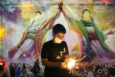 جشن خیابانی به مناسبت عید غدیر در محله اختیاریه تهران