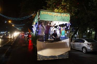 جشن خیابانی به مناسبت عید غدیر در خیابان شریعتی تهران
