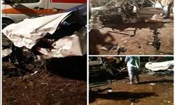 برخورد مرگبار 2 خودروی سواری در جاده گهرباران