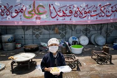 پخت طعام و اطعام ۲۰ هزار نفری در میدان امام حسین (ع) تهران  به مناسبت عید غدیر