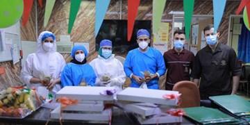 جهادیها برای بیماران کرونایی و کادردرمانی جشن غدیر گرفتند+عکس