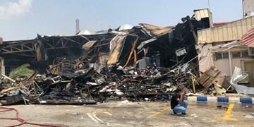 اتصال برق، علت آتشسوزی در بازار پردیس کیش/ یک نفر جان باخت + فیلم و عکس