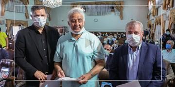شعرخوانی حمیدرضا برقعی در مدح امیرالمومنین(ع)/ تقدیر از علی دایی و علی پروین