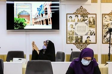 حضور خبرنگاران در نشست خبری  جشنواره سراسری ایران نوشت