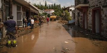 حادثه سیل در یونان حداقل ۷ کشته بر جا گذاشت